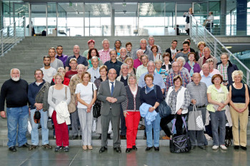 Die Wahlkreisdelegation aus Schwalm-Eder und Frankenberg zu Gast bei Dr. Edgar Franke im Paul-Löbe-Haus in Berlin. Foto: nh