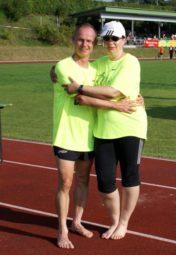 Bernd Gabel und Monika Groh, die einen kompletten Medaillensatz nach Melsungen zurückbrachten. Foto: nh