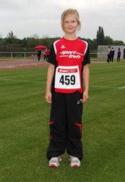Die achtjährige Greta André gefiel mit neuen Bestlestungen im Sprint und Sprung. Foto: nh