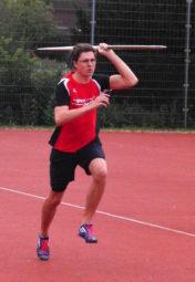 Tobias Stang war mit 43,63 m zweitbester Speerwerfer. Foto: nh