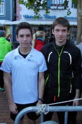 Marvin und Moritz Knaust nach dem 5km-Rennen. Foto: nh