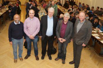 Prof. Dr. Lutz Katzschner, Uwe Behrens, Dr. Markus Schimmelpfennig, Martin Häusling und Andreas Grede (v.l.). Foto: Warlich