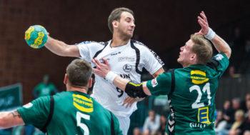 Patrik Fahlgren beim Pokalspiel am Mittwoch in Minden. Foto: Alibek Käsler