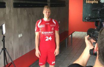 Deener Jaanimaa beim Shooting in der Rothenbach-Halle. Foto: MT Melsungen
