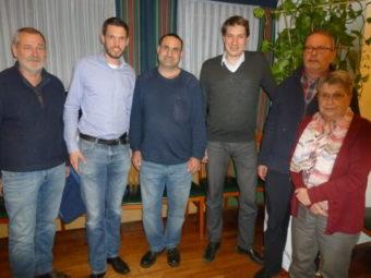 Der Vorstand des SPD- Ortsvereins Homberg mit Bürgermeister Dr. Nico Ritz: Dr. Herbert Wassmann, Vors. Martin Herbold, Sascha Schmidt, Bürgermeister Dr. Nico Ritz, Hajo Rübsam und Anne Wimmel (v.l.). Foto: Dieter Werkmeister