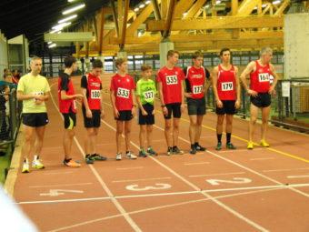 Start zum 1000m-B-Lauf mit Aaron werkmeister (179), Marvin (180) und Moritz Knaust (177). Foto: nh