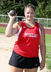 Janina Rohde belegt im Kugelstoßen der U20 mit 12,08 Meter den 32. Platz. Foto: nh