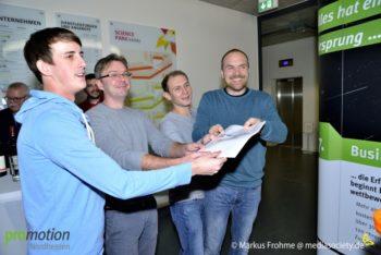 Das Team Ninianeers: Dennis Fricke, Dmitrij Funkner, Marius Bakowski und Christoph Grimmer-Dietrich (v.l.). Foto: Frohme