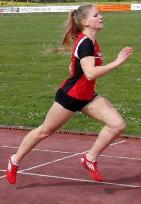 Franziska Ebert imponierte sowohl im 50m-Sprint als auch im Weitsprung. Foto: nh