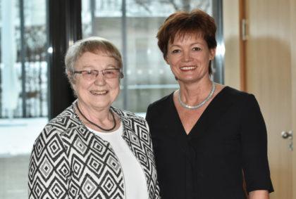Heide Koch und Staatsministerin Lucia Puttrich. Foto: nh