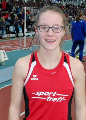 Lynn Olson lief über 800 Meter ein beherztes Rennen, aber sie musste am Ende dem schnellen Beginn Tribut zollen. Foto: nh
