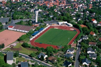 Im Blumenhainstadion veranstaltet der Tuspo Borken am 17. August 2019 ein Läufermeeting mit Meisterschaften im Hochsprung. Foto: nh