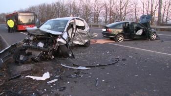 Schwerer Verkehrsunfall bei Fritzlar im Jahr 2011. Symbolfoto: nh