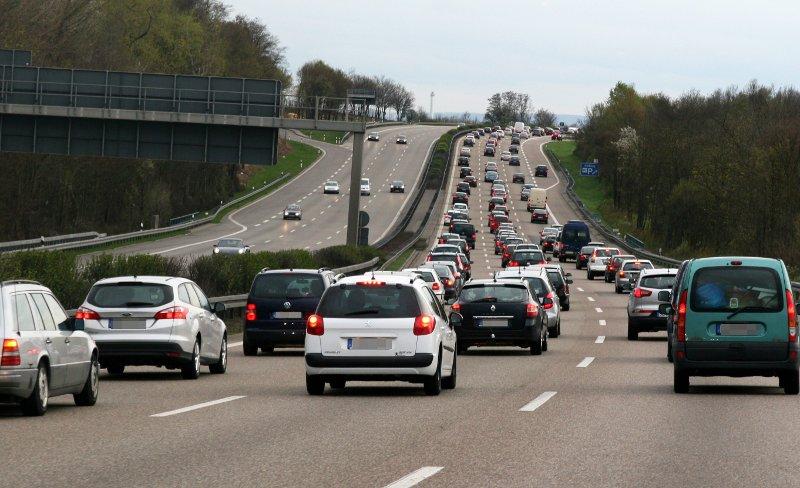 Viel Verkehr auf der Autobahn