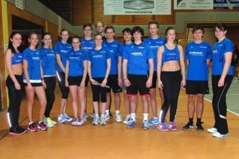 Das erfolgreiche Team der Melsunger Leichtathleten, das fast ein Drittel der Meisterschaften gewinnen konnte. Foto: Alwin J. Wagner