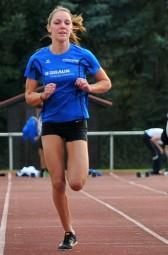 Marie Wagner verzichtete auf den Rundenlauf und gewann dafür den Sprint der U18 über 50 Meter in 7,64 Sekunden. Foto: Alwin J. Wagner