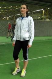 Selina Langhorst überzeugte nach ihrem Kugelstoßsieg bei den Kreismeisterschaften auch beim internationalen Schüler-Hallensportfest in Dortmund. Foto: Alwin J. Wagner