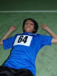 Ein weiteres Mal präsentierte sich der 10-jährige Navtej Dahliwal in einer Top-Verfassung und blieb im 50m-Lauf zum ersten Mal unter 8,00 Sekunden. Foto: Alwin J. Wagner