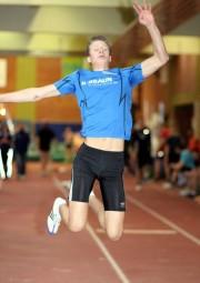 Nach einer langen Verletzungspause fast wieder der Alte:  Michael Hiob sprang zweimal 5,40 Meter und sicherte sich nach Silber im Kugel