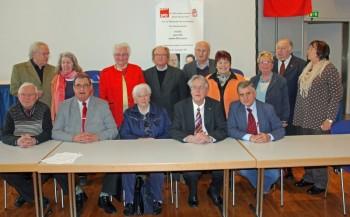 Der neue Vorstand der AG 60 plus Hessen Nord. Foto: Gerhard Telschow