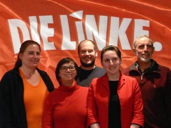 Iris Bluthardt, Heide Scheuch-Paschkewitz, Andreas Schwalb, Lisa Lazarev und Jochen Böhme-Gingold (v.l.). Foto: nh