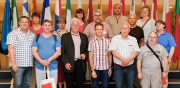 Die Delegation aus Nordhessen zu Besuch bei Barbara Weiler. Foto: nh