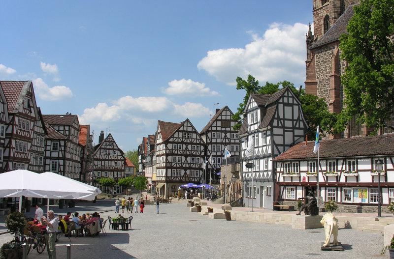 Homberger Marktplatz. Archivbild: nh