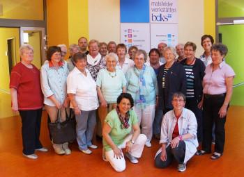 Die Vertreterinnen der Arbeitsgemeinschaft Sozialdemokratischer Frauen (ASF) in den Räumlichkeiten der Malsfelder Werkstätten. Foto: nh