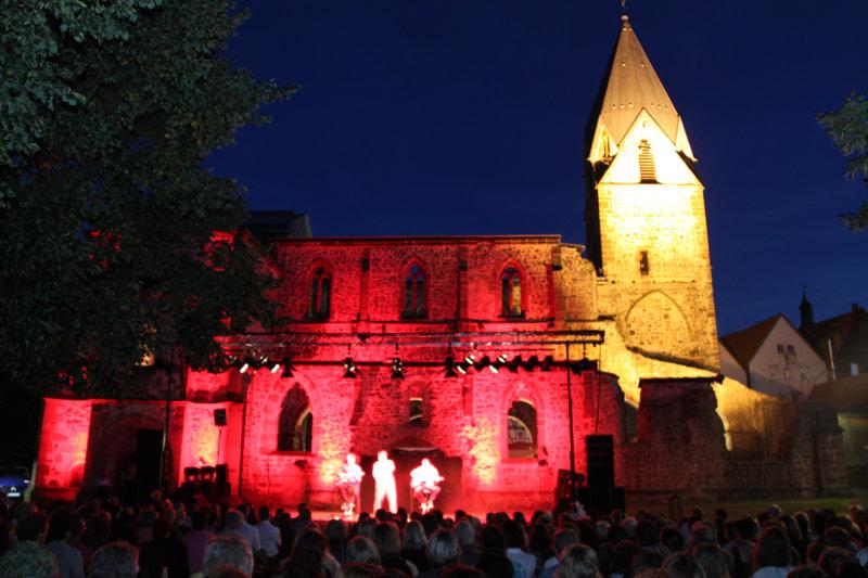 Am 6. Juli wird die Totenkirchen wieder zur Musicalbühne. Archivbild: nh