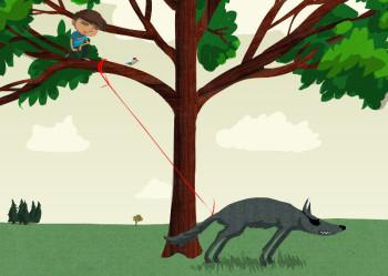 Peter und der Wolf. Quelle: Hephata
