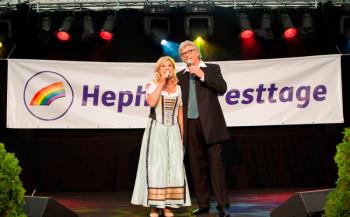 Marianne und Michael auf den 21. Hephata-Festtagen. Foto: Artur Worobiow
