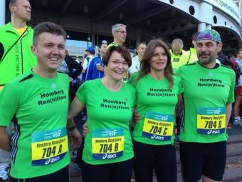 Die Staffel der Homberg Ren(n)tiere beim Frankfurt Marathon. Foto: nh