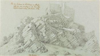 Tischbeins Rötelzeichnung von der Felsburg. Quelle: nh