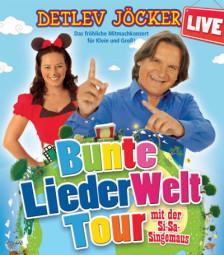 Kommen nach Melsungen: Detlev Jöcker und die Si-Sa-Singemaus. Foto: nh