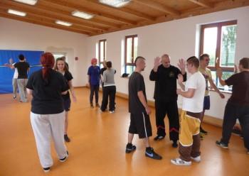 Gewaltpräventionstraining in der Giese WingTsungAkademie, Guxhagen. Foto: nh