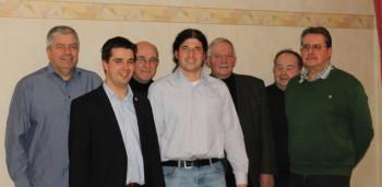 Eckhardt Geisel, Matthias Wettlaufer, Georg Keil, Cai Rüffer, Hans Bernhardt, Armin Kottusch und Jens Mörschel (v.l.). Foto: nh