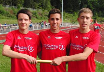 U18-Staffel mit Christian, Aaron und Lorenz. Foto: Alwin J. Wagner