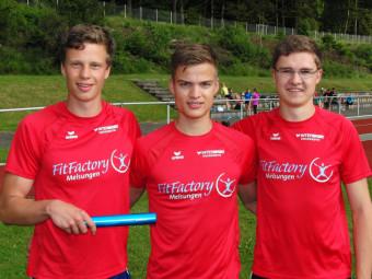 U20-Staffel mit Michael, Dennis und Tobias