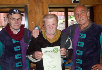 Treffsicheres Trio: Heinrich Klimek, Walter Nöll und Georg Dingel (v.l.). Foto: nh