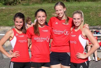 Julia Klute, Marie Wagner, Katharina Wagner und Karolin Siebert hoffen in Ulm auf einen weiteren Kreisrekord. Foto: Alwin J. Wagner