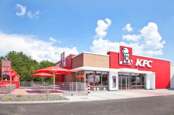 Das neue KFC Restaurant in Guxhagen von außen. Foto: nh