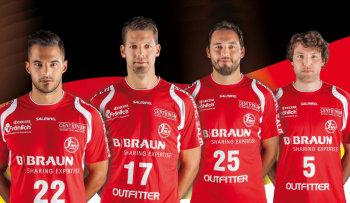 Vier MT-Spieler für die Deutsche Nationalmannschaft: Michael Allendorf, Felix Danner, Michael Müller und Johannes Sellin. Foto: nh