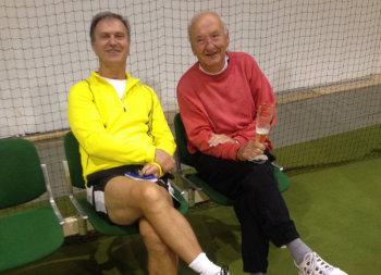Auch der fünfte Platz (Hans Ulbrich, rechts) und der 6. Platz (Uwe Steudel, links), machen Freude. Foto: nh