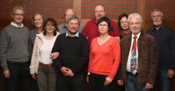 Edgar und Ilona Janassek, Gerda Hörold (Kassenprüferin), Bernd Grünhaupt, Lothar Kothe, Rolf Götzmann, Isolde Schewitz, Clarissa Beisecker, Winfried Hucke und Dr. Johannes Heyn (v.l.). Foto: nh