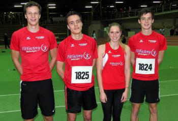 Zum letzten Mal in diesem Jahr gingen Michael Hiob, Christian Schulz, Karolin Siebert und Tim Hochschorner an den Start und verabschiedeten sich mit guten Leistungen aus ihrer Altersklasse. Foto: nh