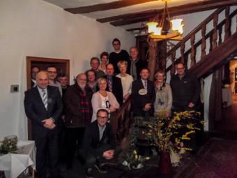 Mitglieder der Vorstände von G.u.T, des Gewerbevereins Ziegenhain sowie der Handels- und Gewerbevereinigung Treysa trafen sich im Hotel Rosengarten zu einer gemeinsamen Sitzung. Foto: nh