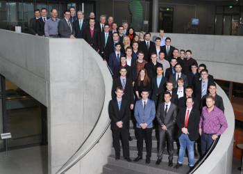 Bei der B. Braun Melsungen AG haben am Freitag, 27. Februar 2015, 35 technische Ausbildungsabsolventen im Rahmen einer Feierstunde ihre Abschlusszeugnisse überreicht bekommen. Foto: nh