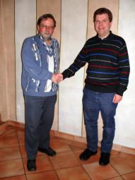Götz Buchholz (links) und Andreas Göbel. Foto: nh