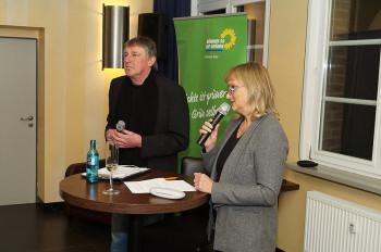 Kreisvorstandssprecherin Dr. Bettina Hoffmann, Kreisvorstandssprecher Hermann Häusling. Foto: nh