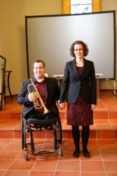 Philip Schütz (Trompete) und Lisa Maria Beuthner (Klavier). Foto: nh